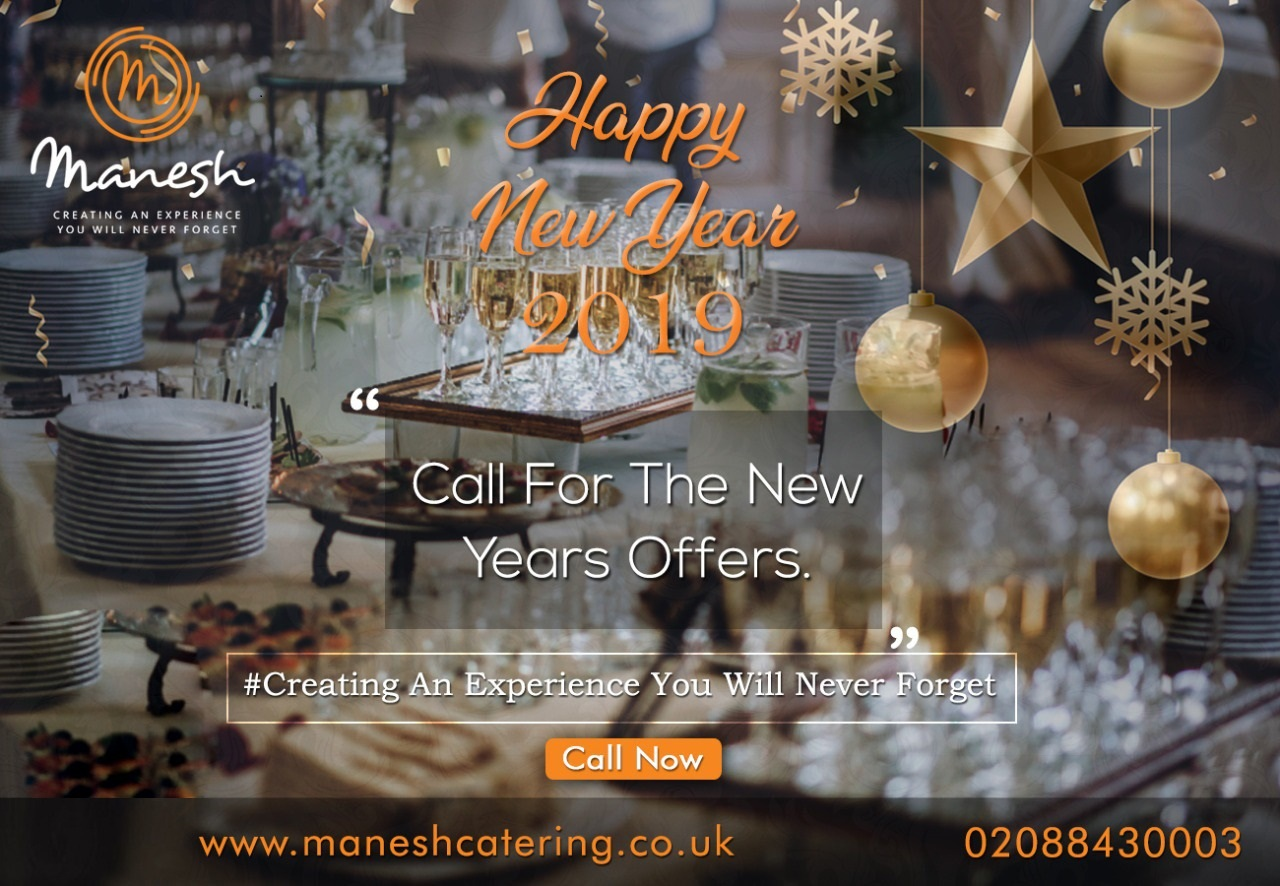 happy new year from manesh catering